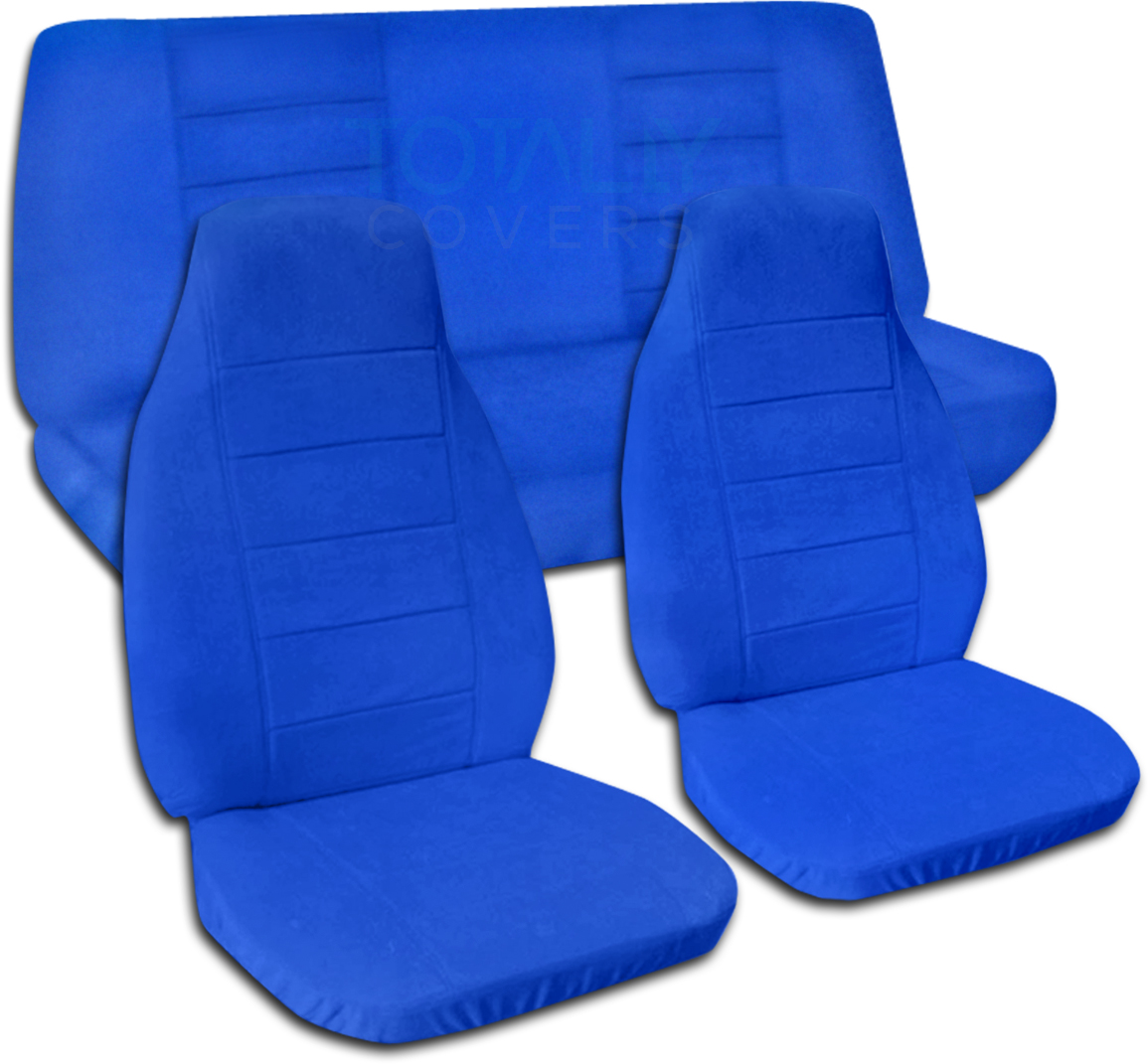 Solid Color Car Seat Covers Full Set Semi Custom Black Gray Brown Blue Pink Ebay