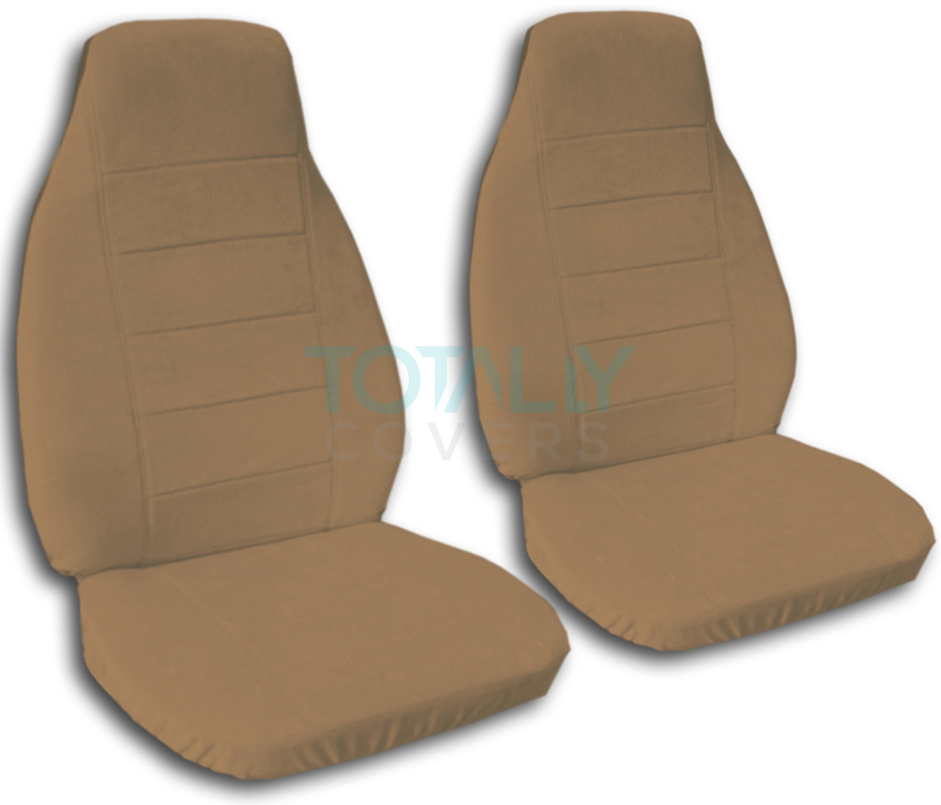Solid Color Car Seat Covers Front Semi Custom Black