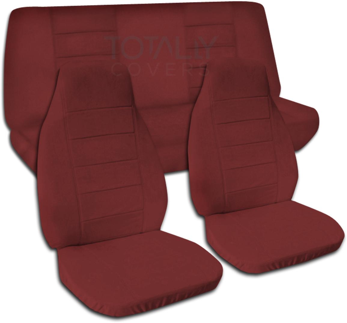 Solid Color Car Seat Covers Full Set Semi Custom Black