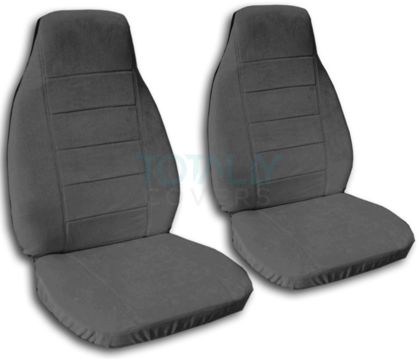 Solid Color Car Seat Covers (Front, Semi-custom) Black