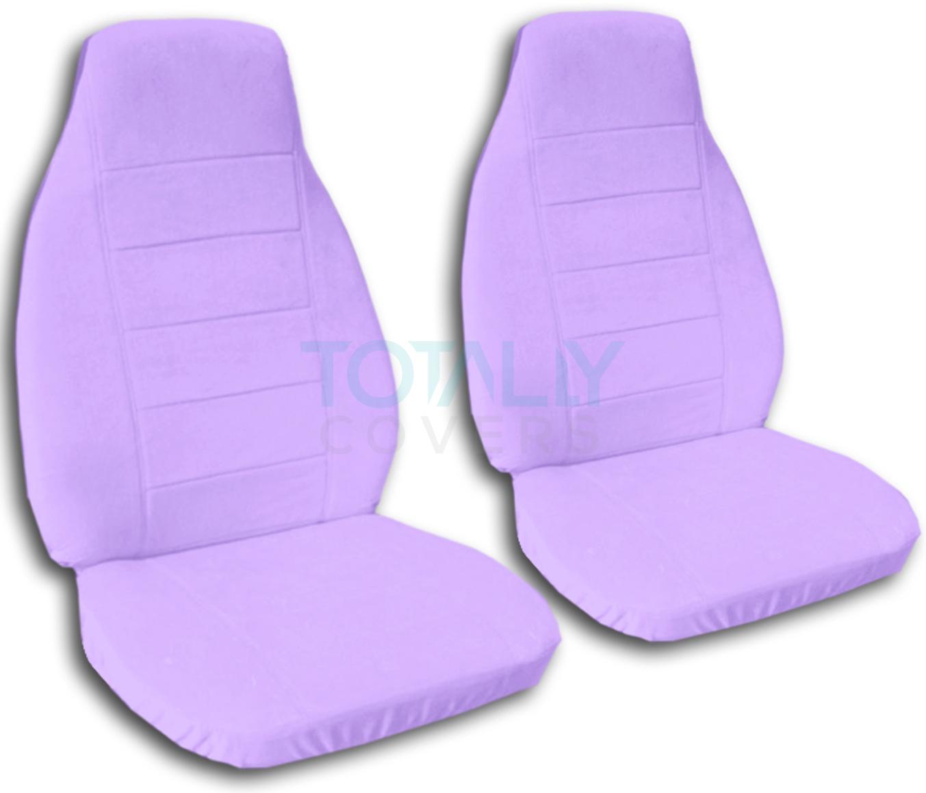 solid color car seat covers front semi custom black gray brown blue red pink ebay. Black Bedroom Furniture Sets. Home Design Ideas