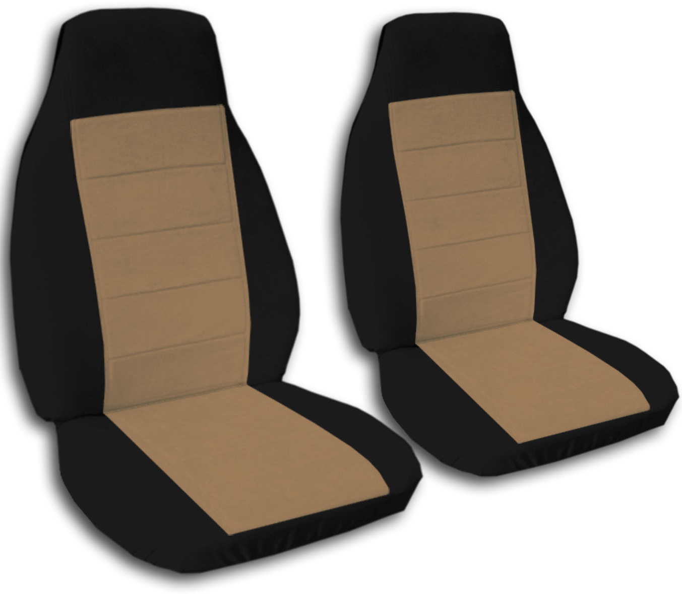 Two Tone Car Seat Covers Front Semi Custom Black Amp Red