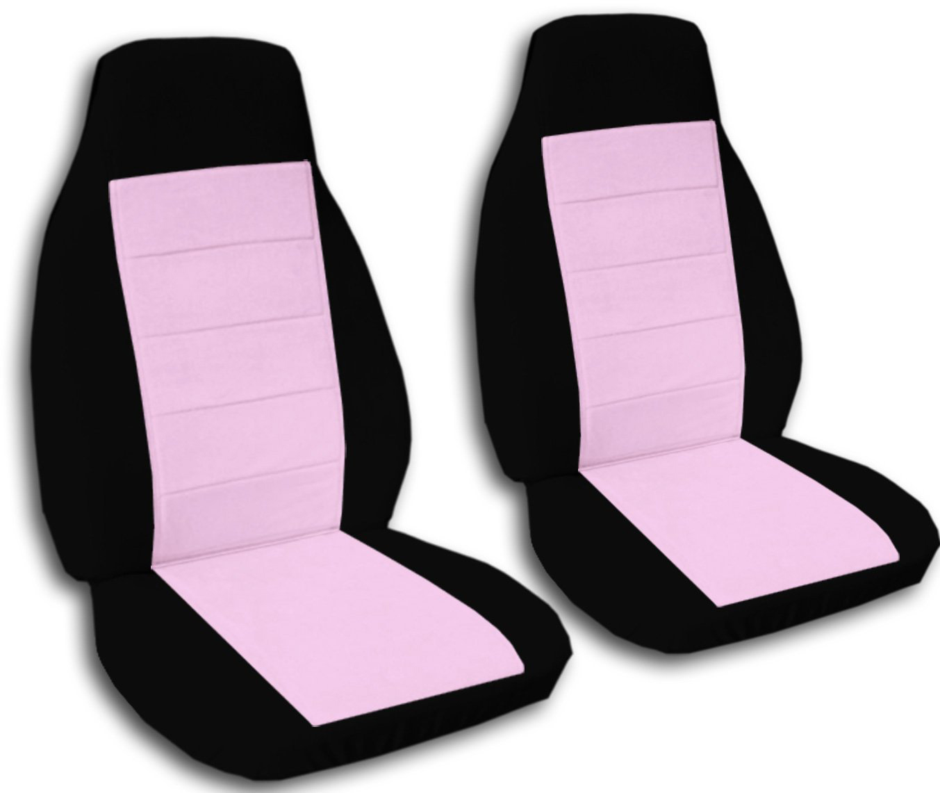 Two Tone Car Seat Covers Front Semi Custom Black Redyellow