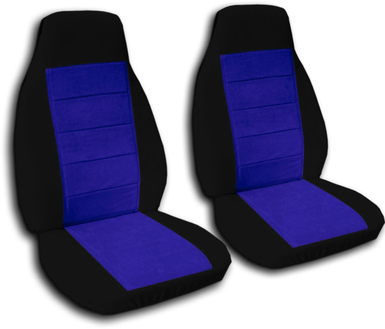 Two Tone Car Seat Covers Front Semi Custom Black Amp Red Yellow Blue Pink Gray Ebay
