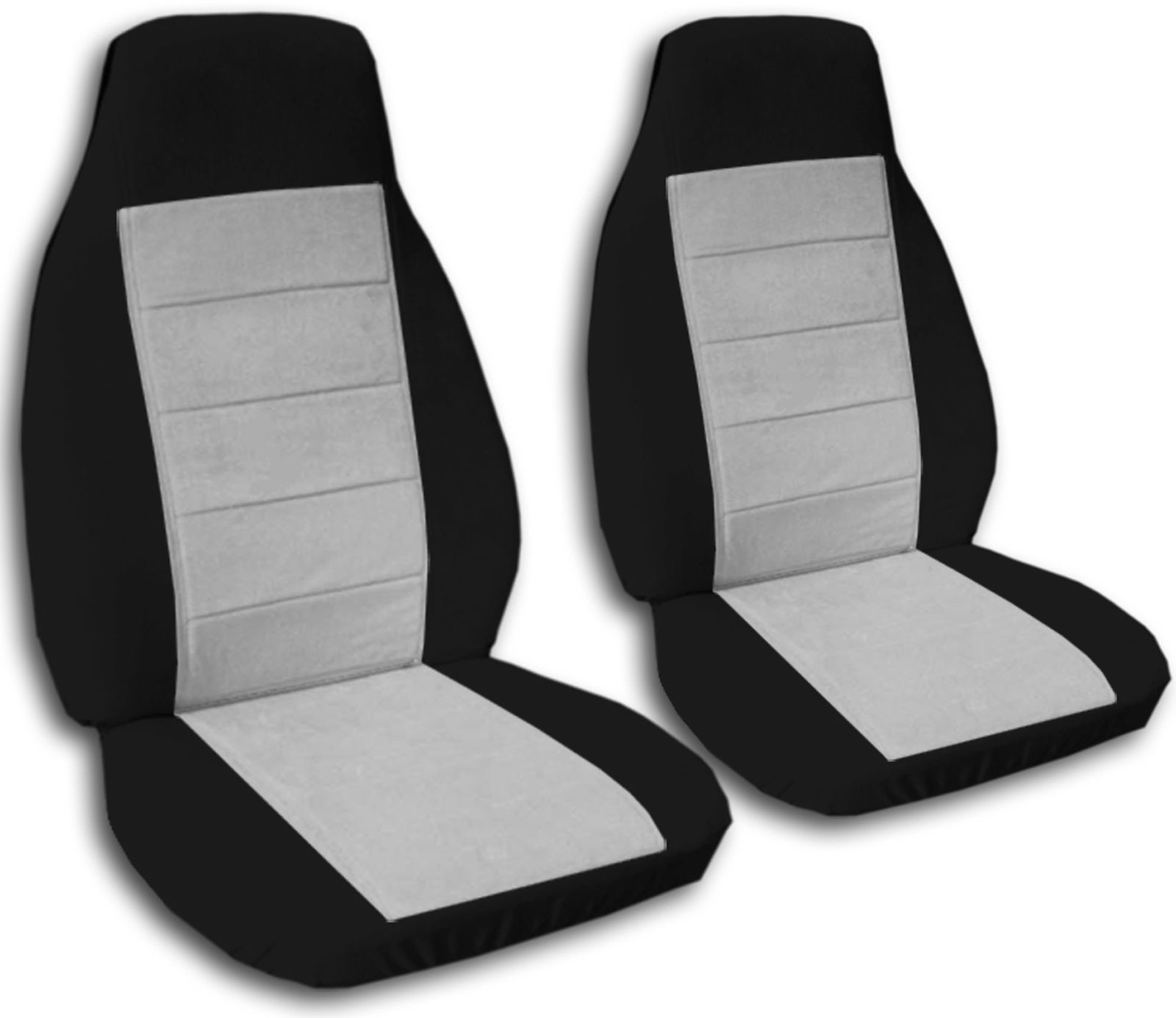 Two Tone Car Seat Covers Front Semi custom Black & Red Yellow