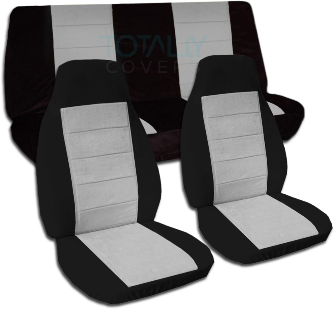 Black Gray Car Seat Covers