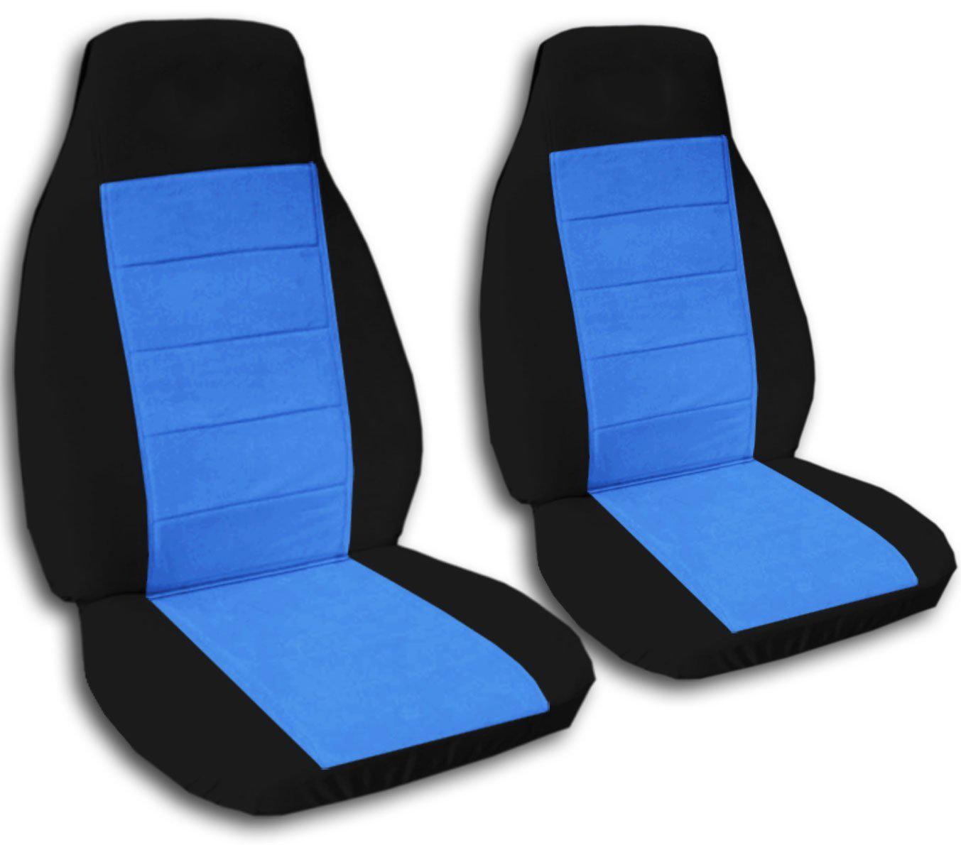 Black Light Blue Car Seat Covers