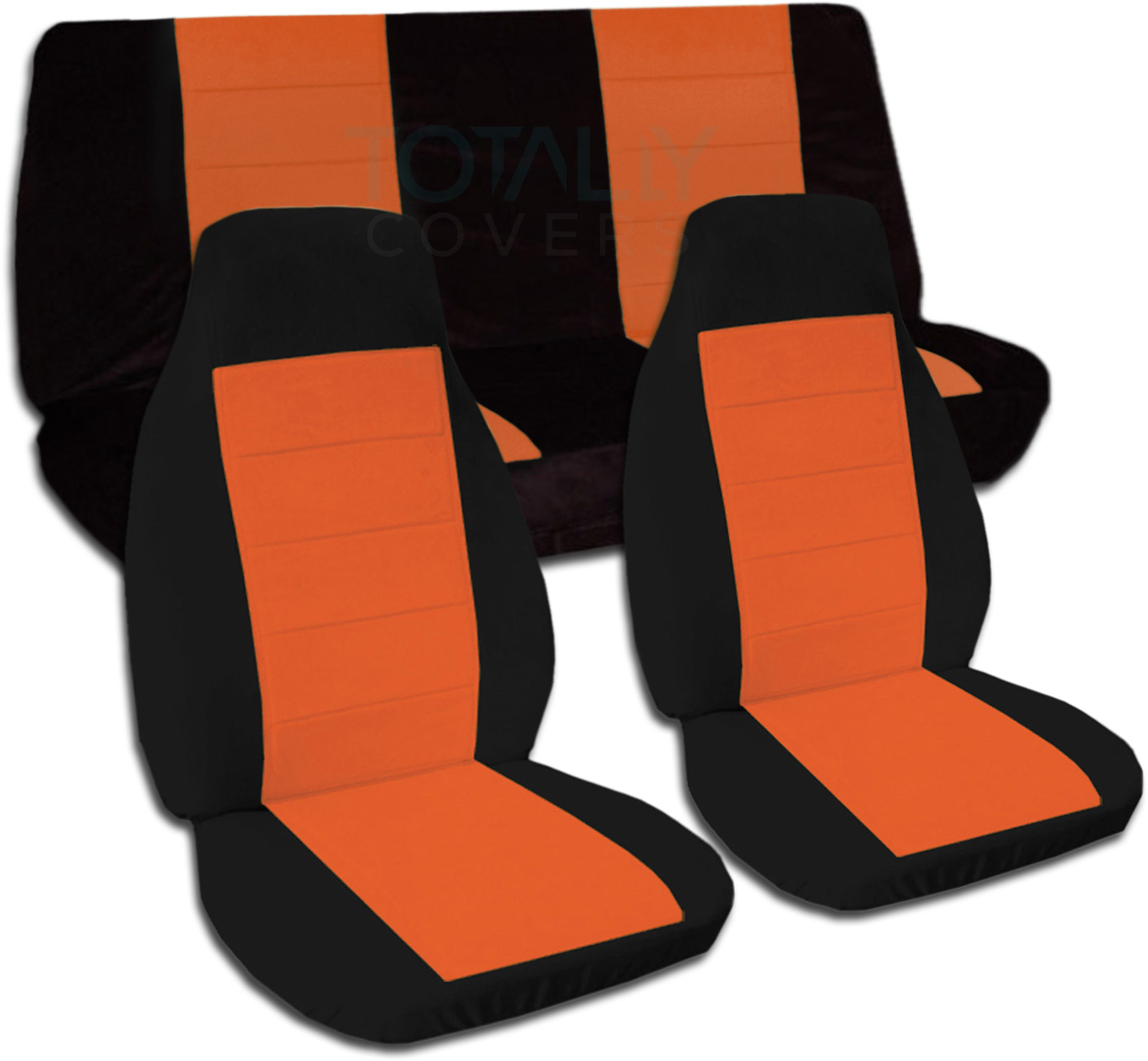 Black Orange Car Seat Covers