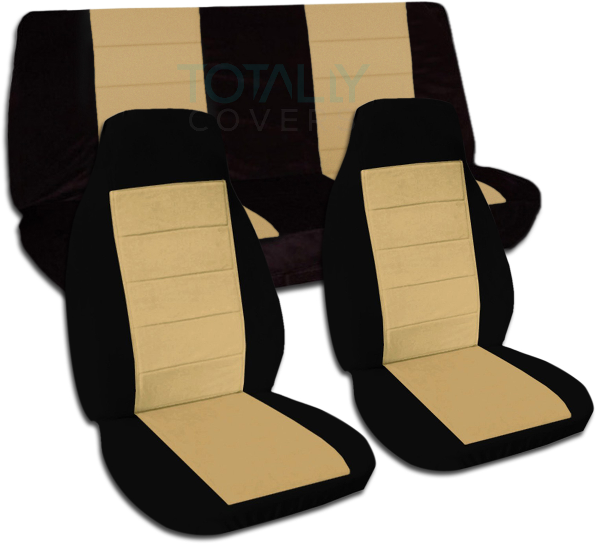 Black Tan Car Seat Covers