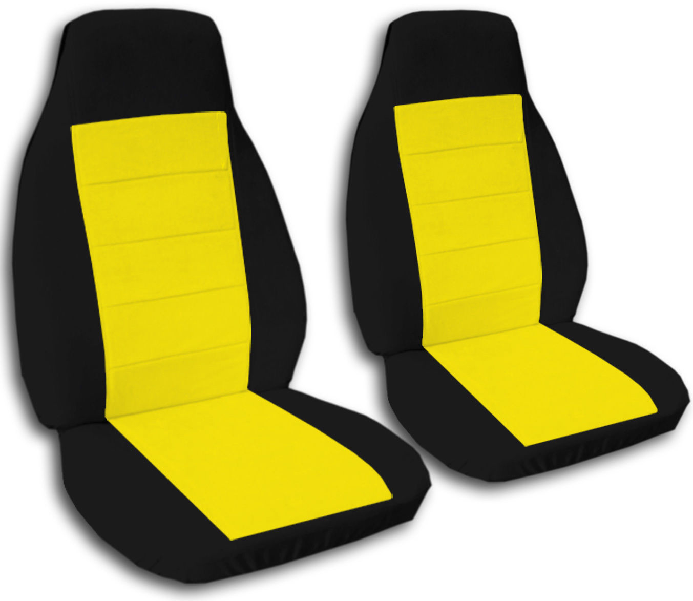 two tone car seat covers front semi custom black red yellow blue pink gray ebay. Black Bedroom Furniture Sets. Home Design Ideas