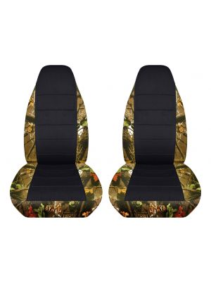 Camouflage and Black Car Seat Covers - Front