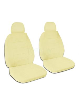 Solid Colour Car Seat Covers with 2 Separate Headrest Covers - Front