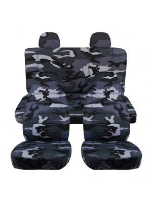 Camouflage Car Seat Covers with 2 Rear Headrest Covers - Full Set
