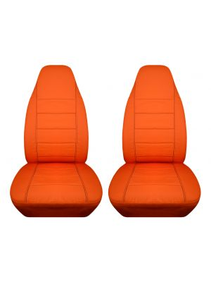 Solid Car Seat Covers - Front