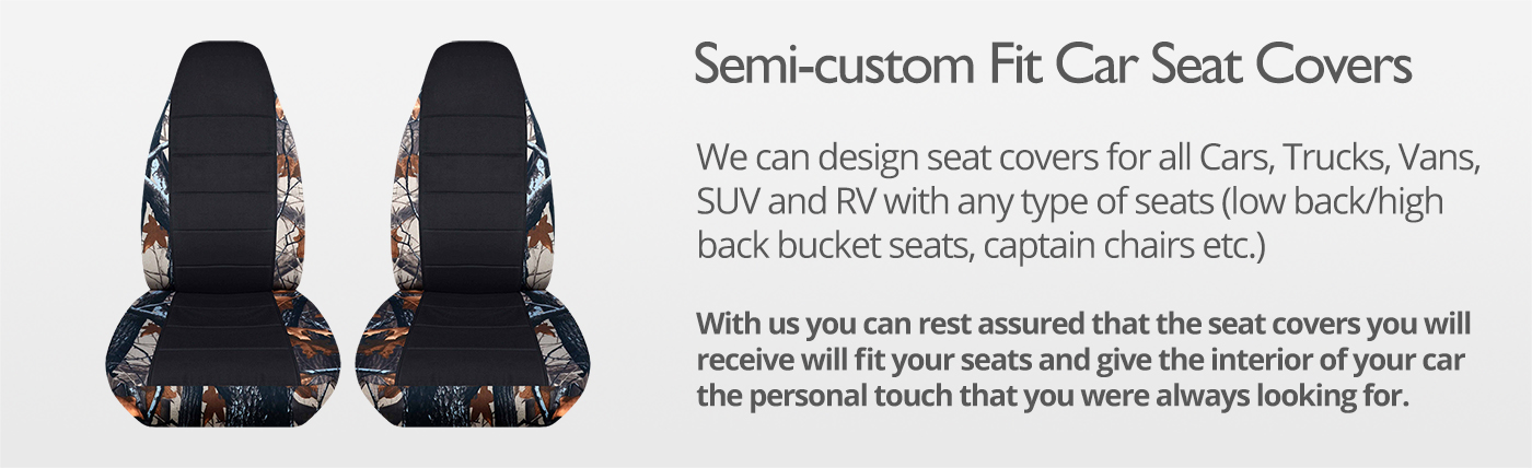 Camo and Black Car Seat Covers
