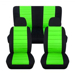 Amazing 2 Tone Car Seat Covers With 2 Front Headrest Covers Full Set Cjindustries Chair Design For Home Cjindustriesco
