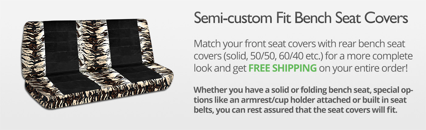 Animal Print and Black Truck Seat Covers